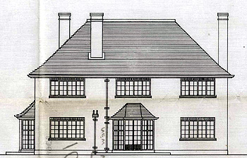An elevation of 61 Church End 1937 [RDBP2/1026]